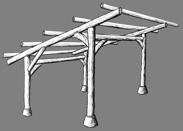 roundwood timber barn