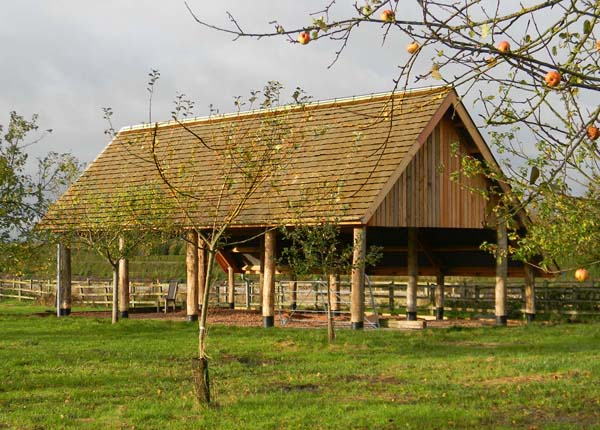 Duchy home farm wholewoods for Pole barn roof pitch